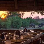 Dineren met uitzicht op olifanten - Savuti Camp